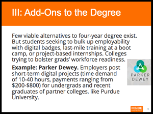 Add Ons To The Degree, From Inside Higher Ed's Special Report