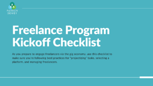 Freelance-Program-Checklist