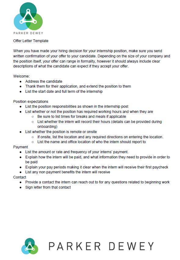 Internship Letter Template from info.parkerdewey.com